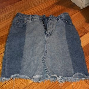 Nasty Gal Jean skirt